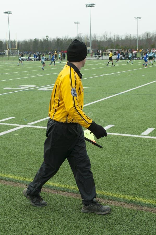 Arbitre du football images libres de droits