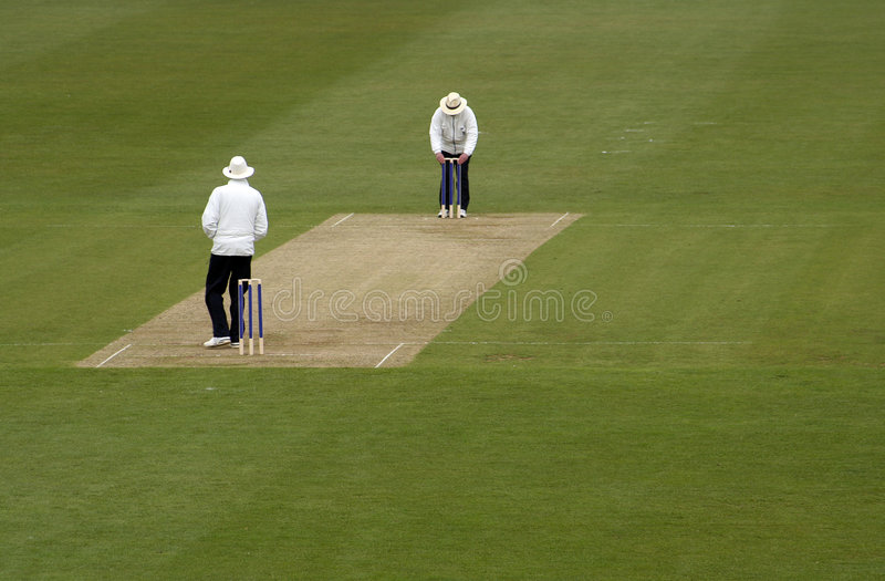 Arbitres de cricket image stock