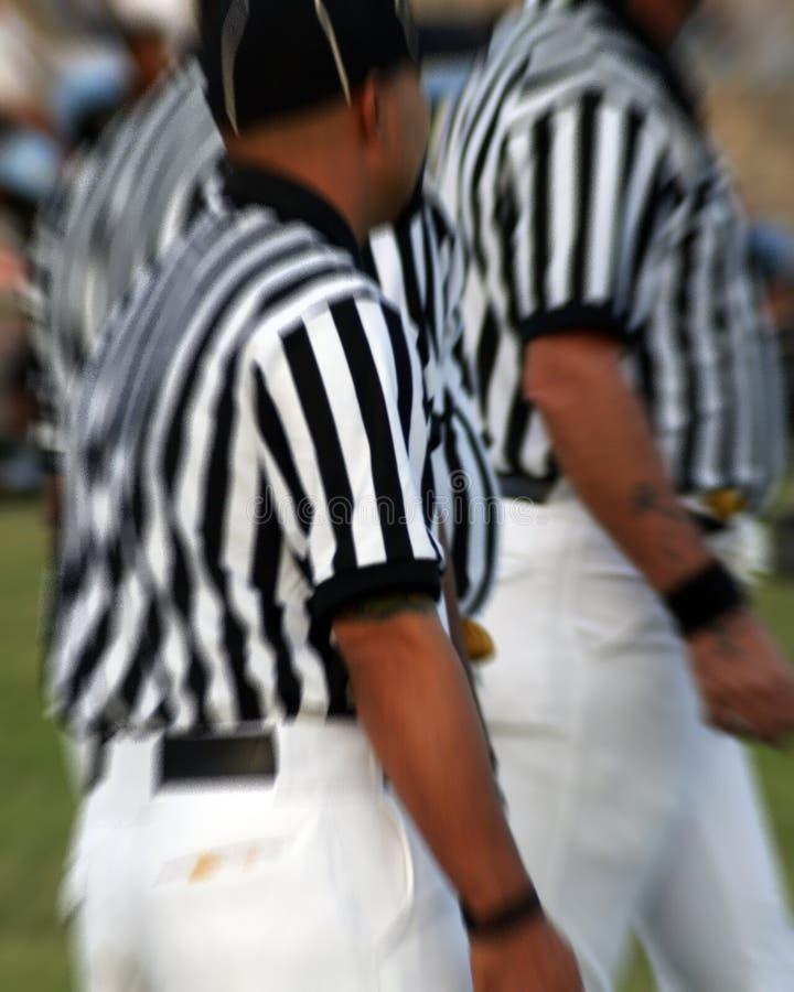 Arbitres de NFL image libre de droits
