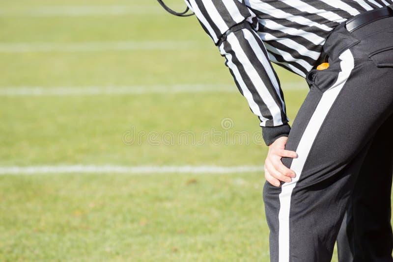 Arbitro di calcio fotografia stock