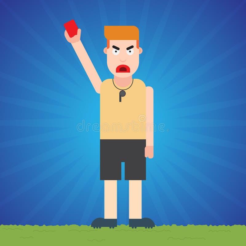 Arbitro Issued un cartellino rosso royalty illustrazione gratis
