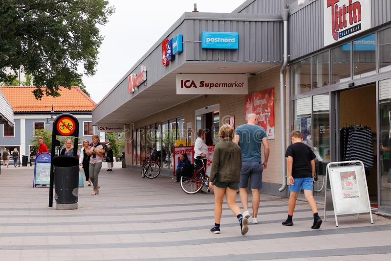 Arboga centrum miasta fotografia royalty free