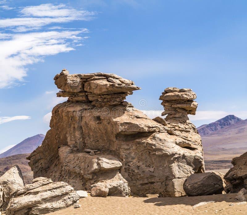 Arbol de Piedra (árbol de piedra) es una formación de roca en BO imagenes de archivo