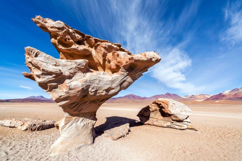 Arbol de Piedra em Bolívia imagens de stock