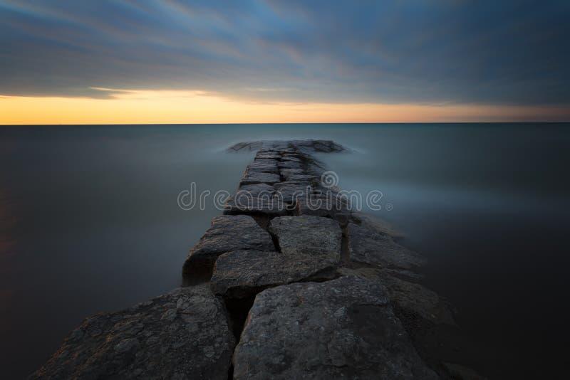 Arboleda brillante Rocky Sunset fotografía de archivo
