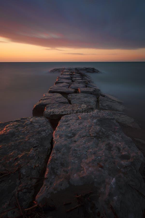 Arboleda brillante Rocky Sunset fotografía de archivo libre de regalías