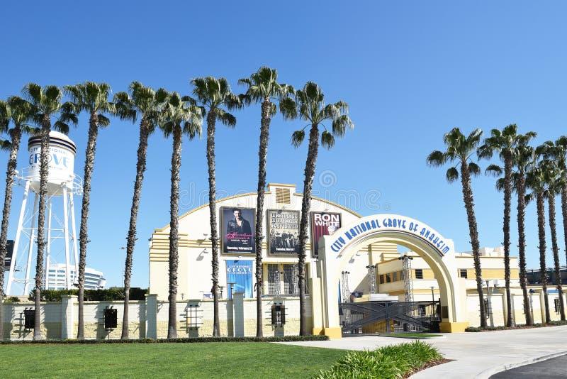 Arboleda nacional de la ciudad de Anaheim foto de archivo