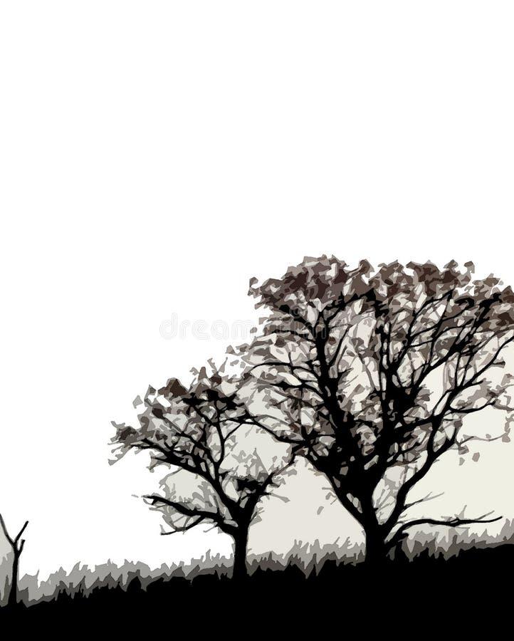 Arboles DE invierno royalty-vrije illustratie