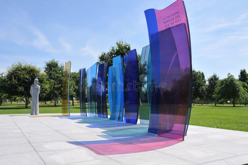 Arborétum commémoratif national d'Alrewas - mémorial national de service images stock