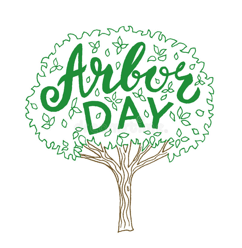 Arbor day vector illustration