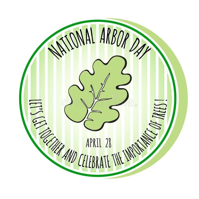4604 Oak Arbor: Arbor Day Icon. Oak Tree. Vector Illustration. Stock