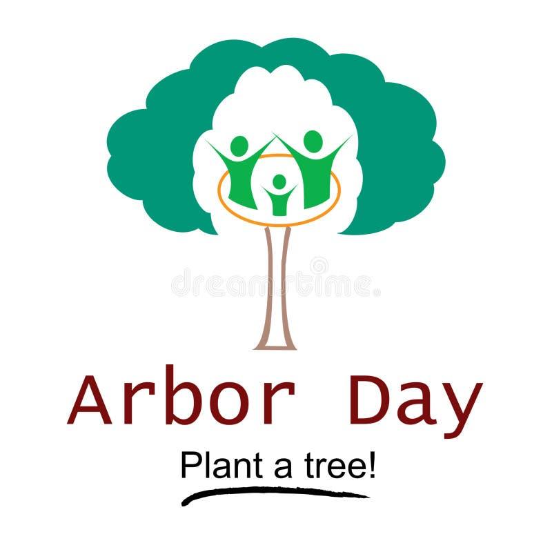 Download Arbor Day Logo Illustration Stock Illustration - Illustration of board, forester: 48238548