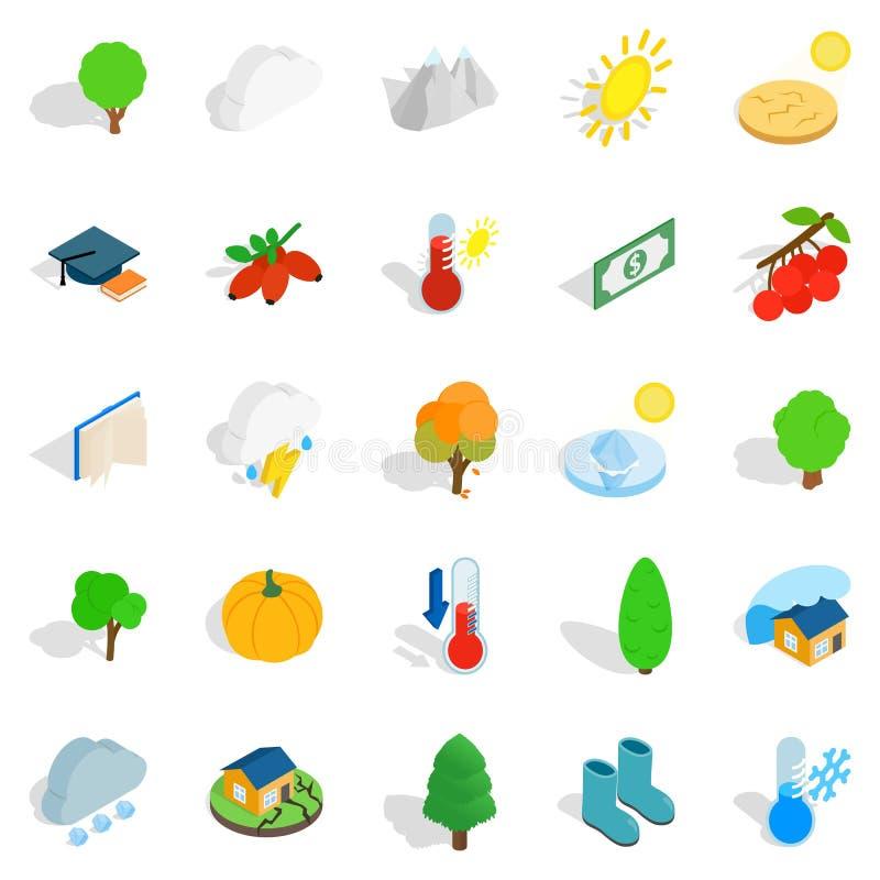 Arboreal установленные значки, равновеликий стиль бесплатная иллюстрация