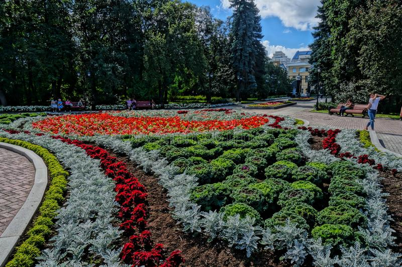 arboreta Ekaterinburg 2018 august miejsce mieć odpoczynek zdjęcie stock