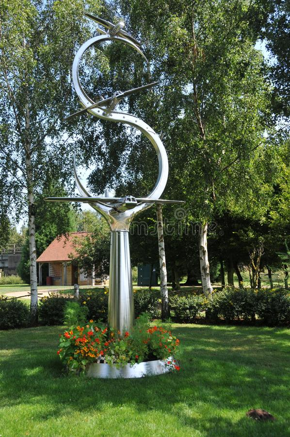 Arboreto memorável nacional de Alrewas - voo memorável da ponte de Pegasus imagens de stock
