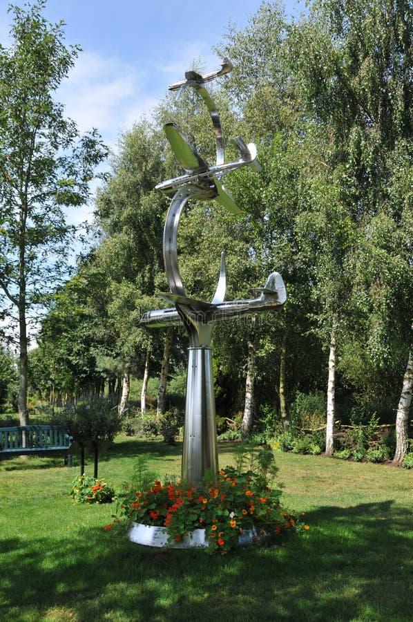 Arboreto memorável nacional de Alrewas - voo memorável da ponte de Pegasus imagem de stock