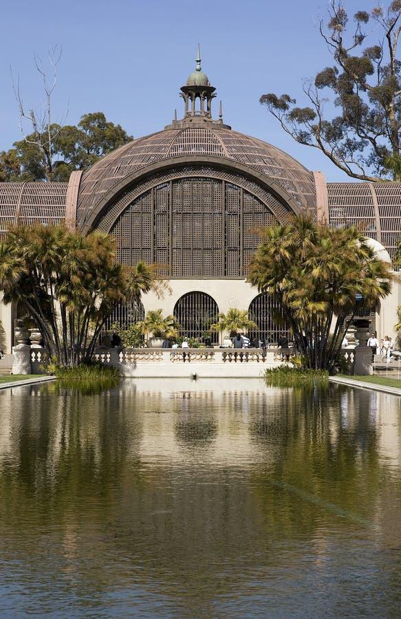 Arboretum in Balboa Park with Reflecting Pool. Arboretum in Balboa Park, San Diego Caifornia with Reflecting Pool royalty free stock photos