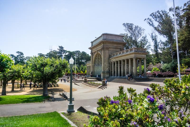 Arboretum i muzyki Concourse teren, golden gate Parkuje, San Fransisco zdjęcia royalty free