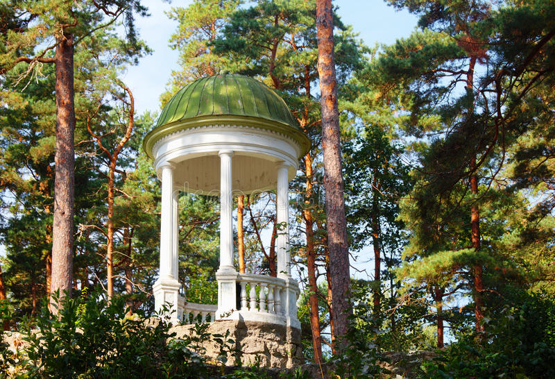 Arbour (rotunda) in Jurmala. Latvia royalty free stock images