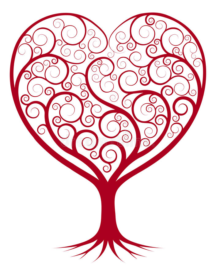 Arbre abstrait de coeur illustration de vecteur