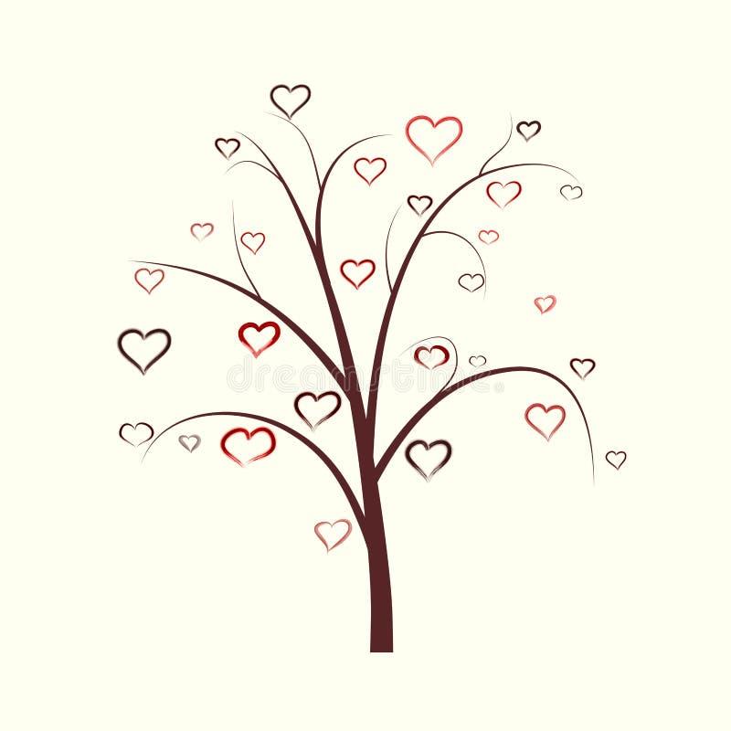 Arbre abstrait de coeur illustration stock