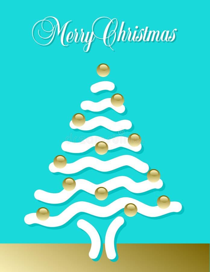 Arbre abstrait de Joyeux Noël illustration libre de droits