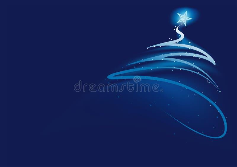 Arbre bleu de Noël de résumé illustration de vecteur