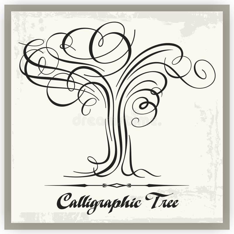 Arbre calligraphique illustration de vecteur
