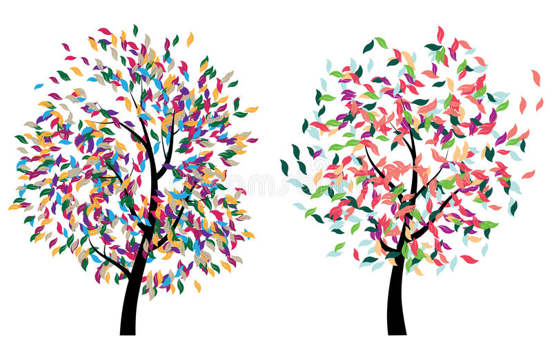 Arbre coloré illustration stock