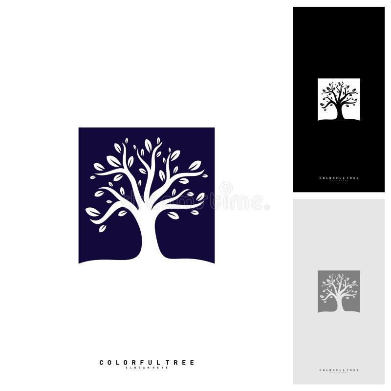 Arbre coloré Logo Design Template Concepts de luxe de logo d'arbre Nature Logo Concepts Vector illustration de vecteur