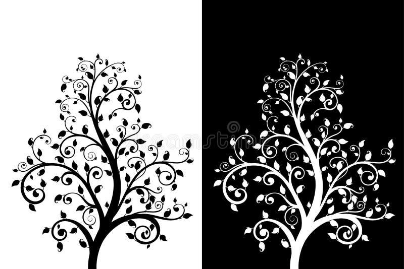 Arbre décoratif avec des feuilles illustration de vecteur