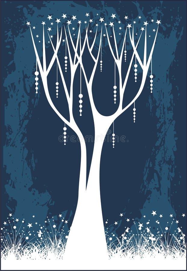 Arbre d'étoile de Noël illustration stock