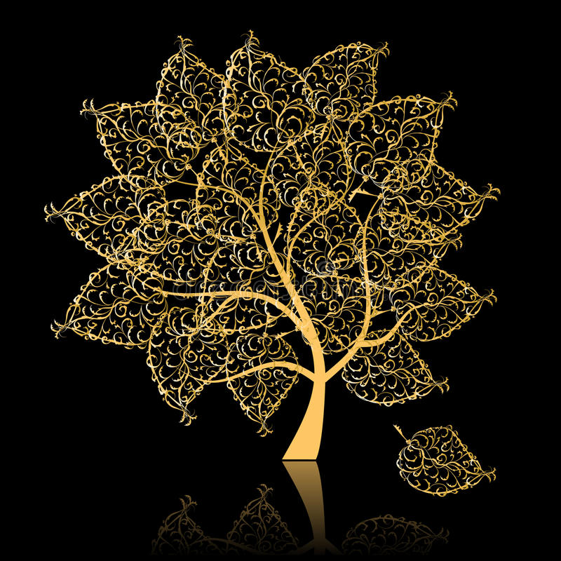 Arbre d'or illustration stock