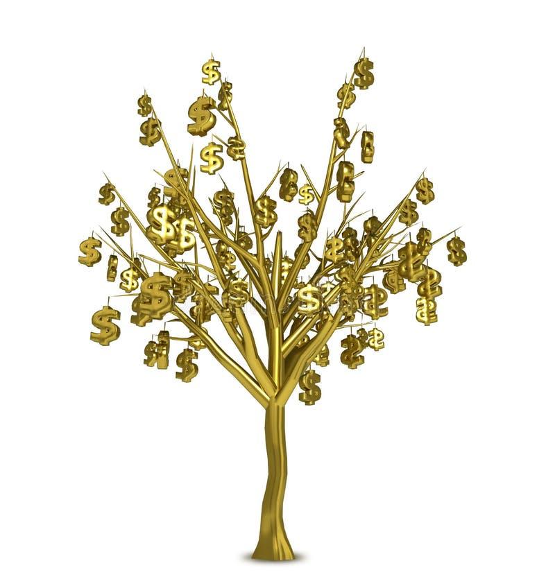 Arbre d'or illustration de vecteur