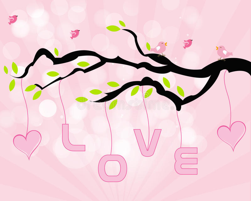 Arbre d'amour illustration stock