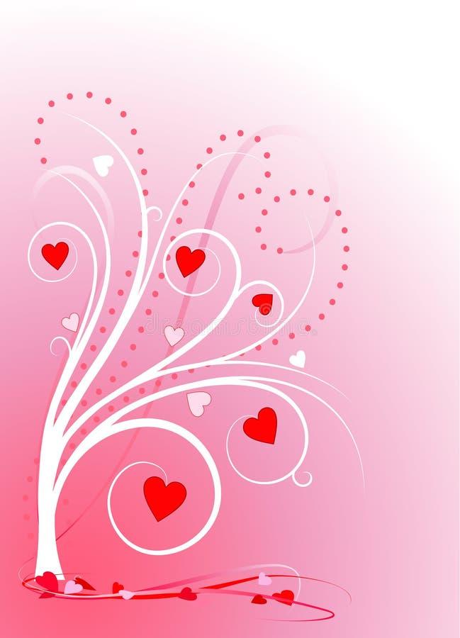 Arbre d'amoureux sur le rose illustration libre de droits