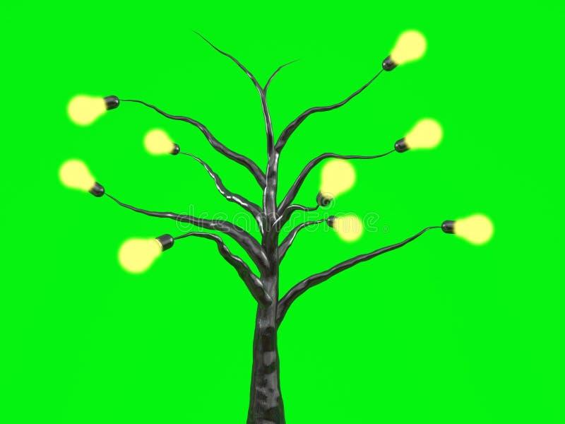 Arbre d'ampoule illustration de vecteur