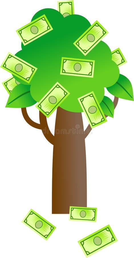 Arbre d'argent illustration stock