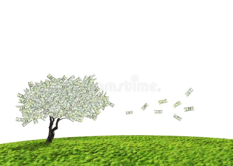 Arbre d'argent comptant du dollar illustration libre de droits