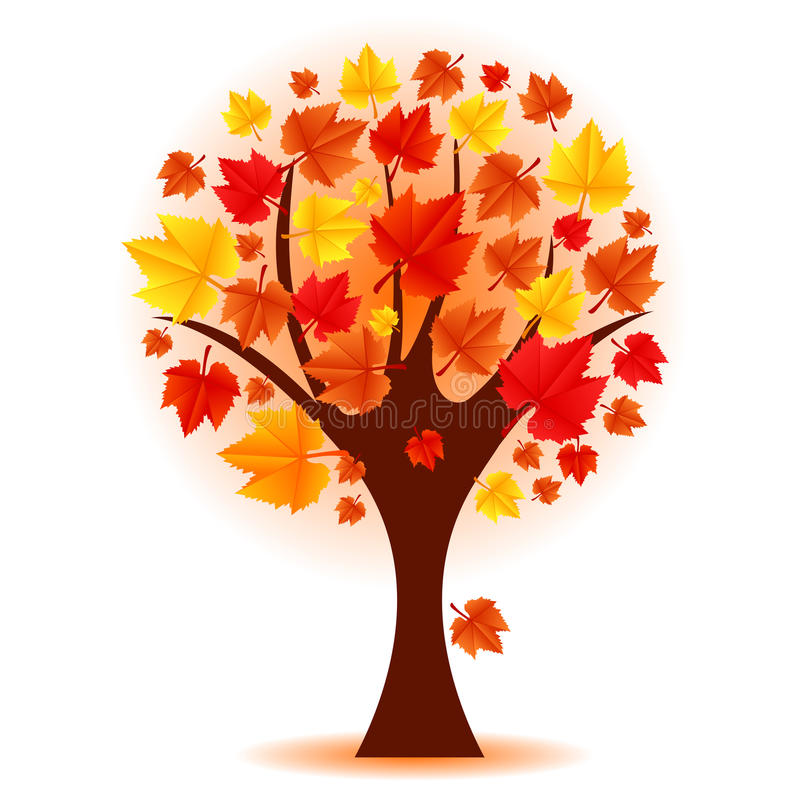 Arbre d'automne illustration stock