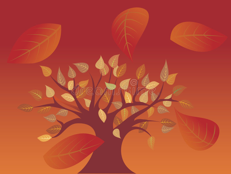 Arbre d'automne illustration de vecteur