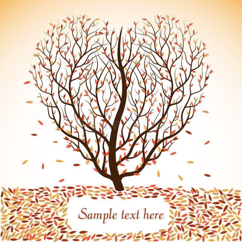Arbre d'automne avec l'espace pour le texte images stock