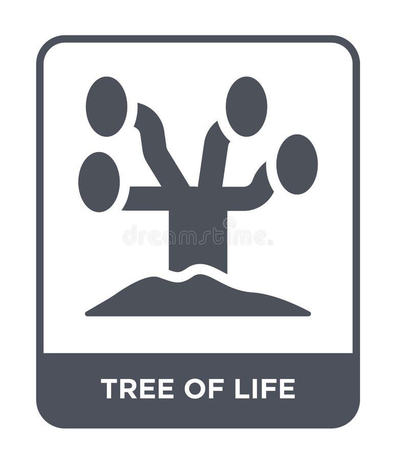 arbre d'icône de la vie dans le style à la mode de conception arbre d'icône de la vie d'isolement sur le fond blanc arbre de l'ic illustration stock