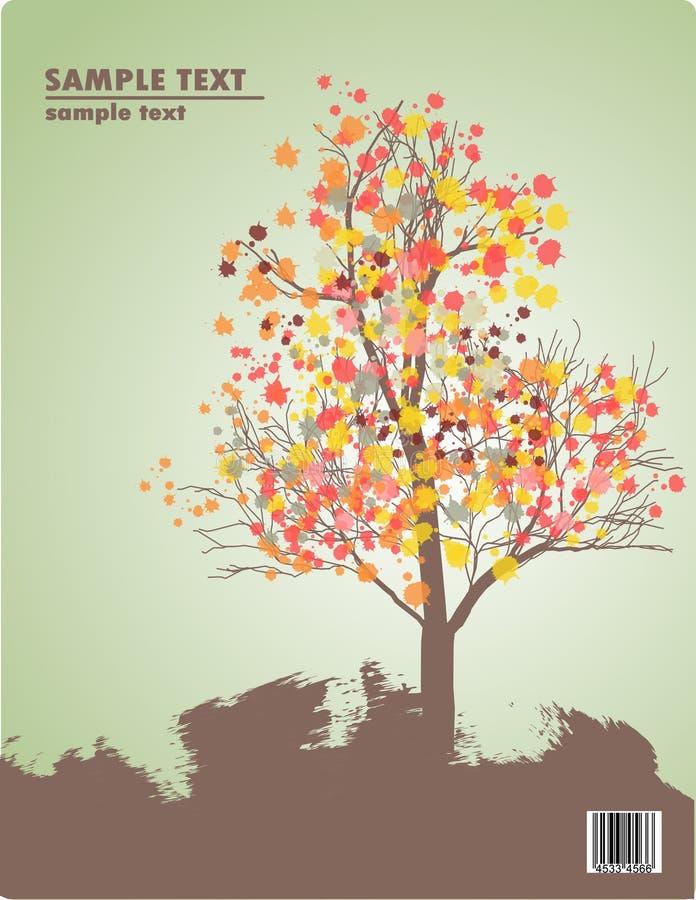Arbre dans l'automne illustration libre de droits