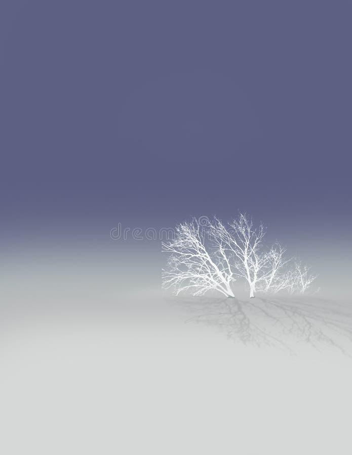 Arbre dans la neige illustration stock
