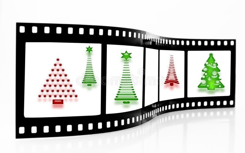 arbre de bande de film de Noël illustration de vecteur