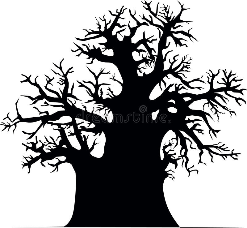 Arbre de baobab illustration stock