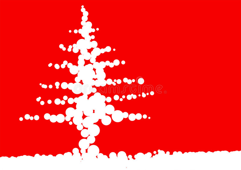 Arbre de bille de Noël photo libre de droits