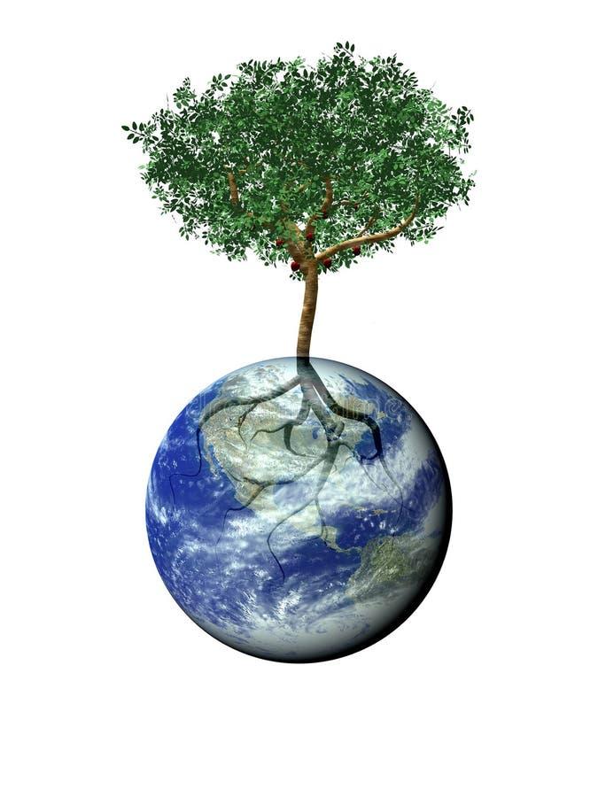 arbre de centrale de la terre illustration libre de droits
