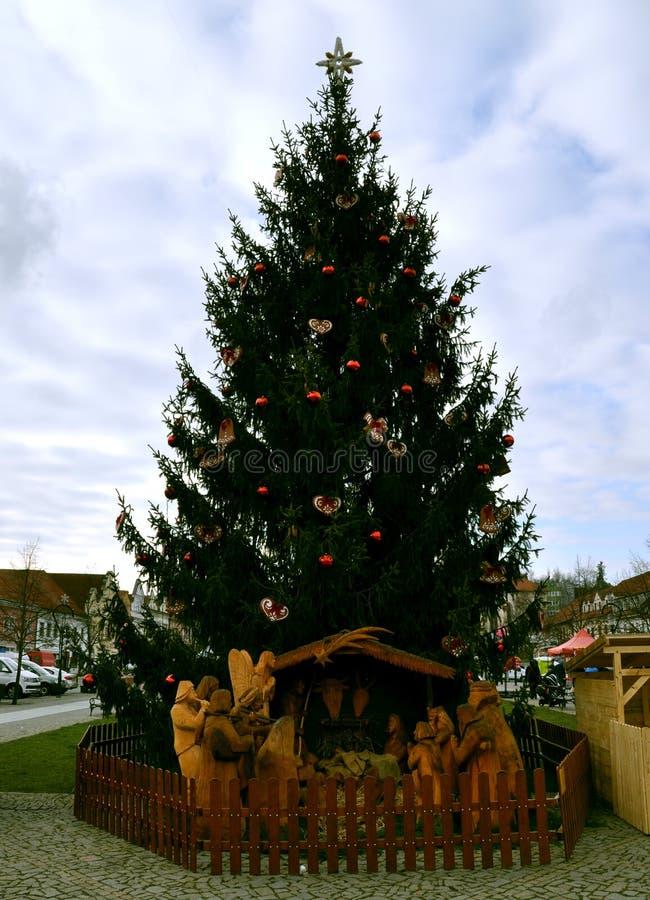 Arbre de Christmass sur la place photo libre de droits